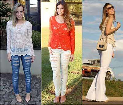 moda-camisa-blusa-de-renda-com-calca