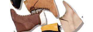 modelos de ankle boot anabela
