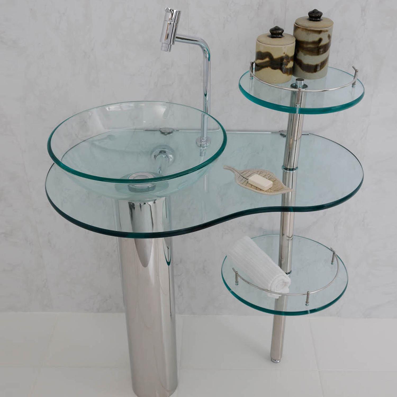 Artesanato Verefazer ~ Móveis para banheiro de vidro pias gabinetes e mais Bela& Feliz