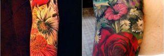 tatuagens de flores no braço fotos