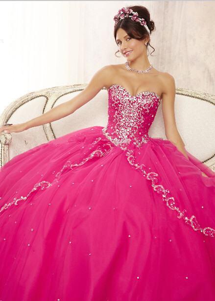 vestido rosa de 15 anos