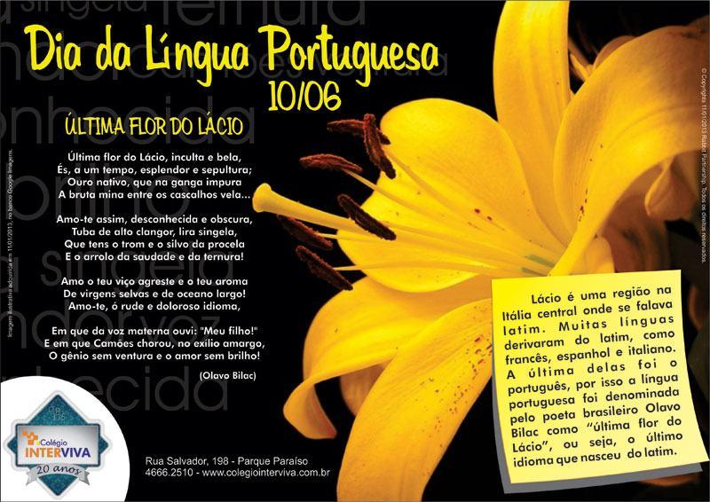 10 de junho dia da lingua portuguesa
