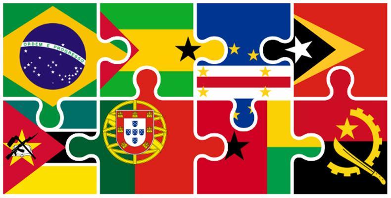bandeiras de países que falam a lingua portuguesa