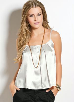 blusa de cetim branca