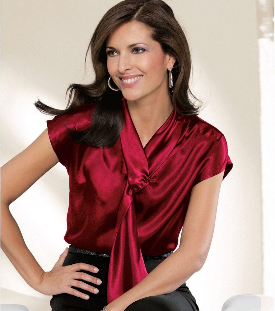blusa de cetim socialzinha na cor bordô