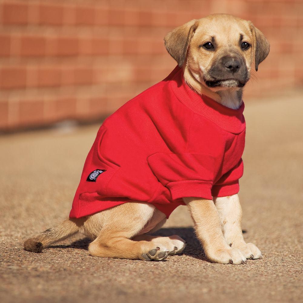 blusa vermelha para cão pequeno