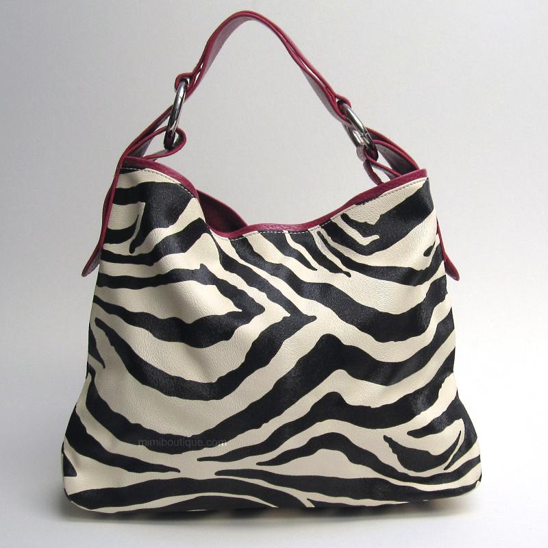 bolsa com listras animal print de zebra