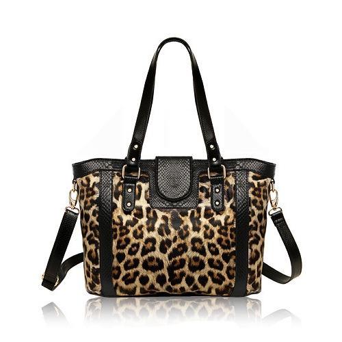 bolsa grande feminina com estampa de animais
