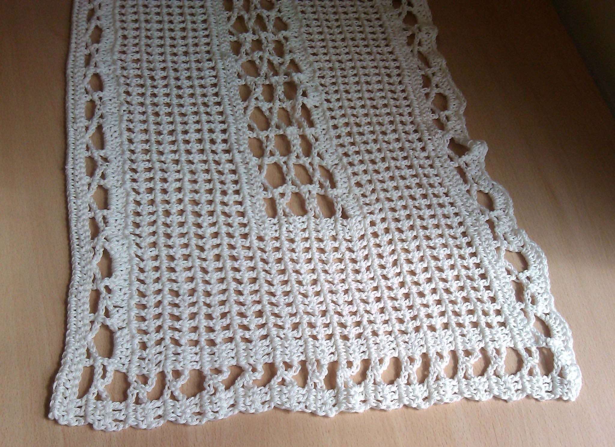 Aprenda Fazer Caminho De Mesa De Crochê Com Gráfico Passo
