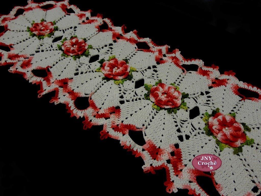 Trilho De Mesa De Crochê Para Mulheres Que Gostam De