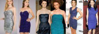modernos vestidos drapeados curtos