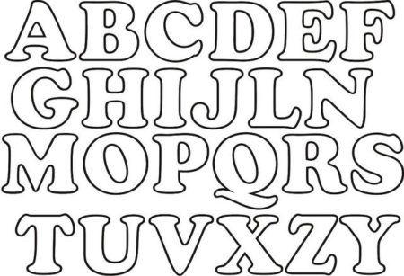 Moldes de letras em EVA para colorir, imprimir e alfabetização ...