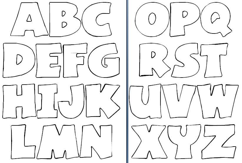 Moldes De Letras Em Eva Para Colorir Imprimir E Alfabetização