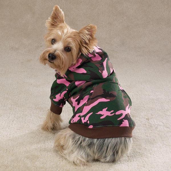 moletom camuflado com capuz para cachorro femea