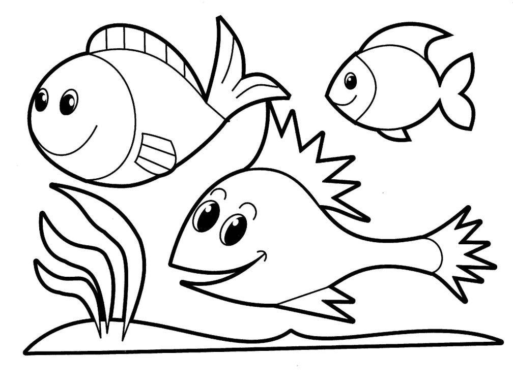 peixinhos em desenhos para criancas que querem colorir