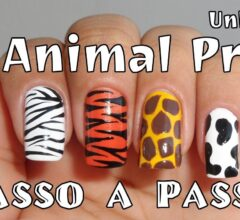 unhas decoradas com estampas de animais animal print