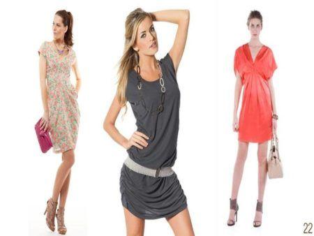 vestidos drapeados curto 4