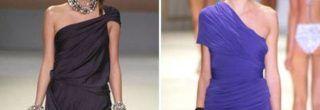 vestidos drapeados curtos de um ombro só