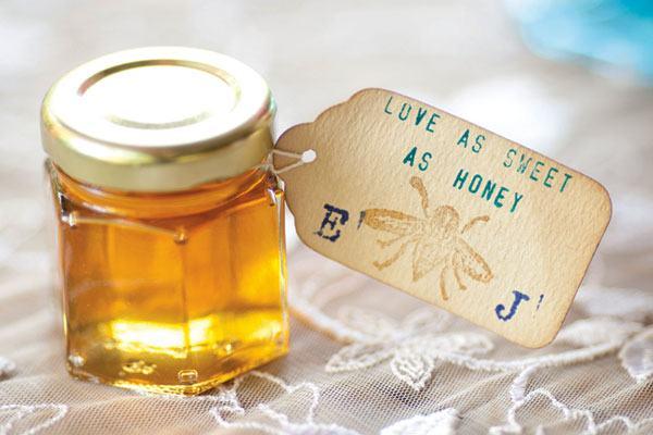 vidro com mel