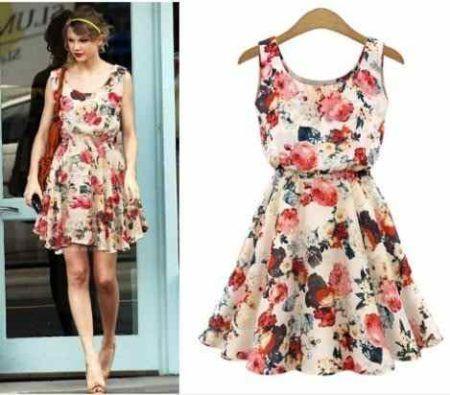 vestidos florais curtos 1