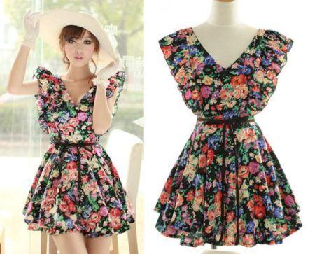 vestidos florais curtos 2