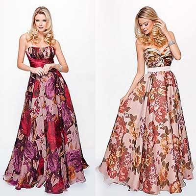 vestidos florais longos 1