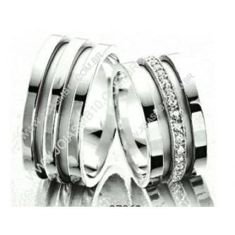 alianças de compromisso de prata grossa