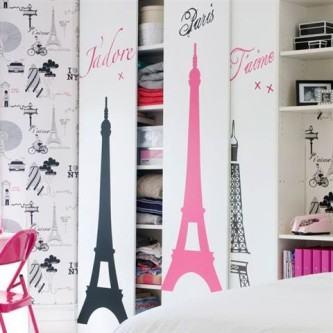 adesivos decorativos para porta de guarda roupa feminino