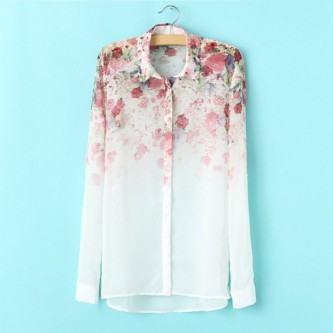 camisas florais primavera verão