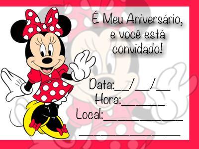 Convites De Aniversario Da Minnie Para Meninas Bela Feliz