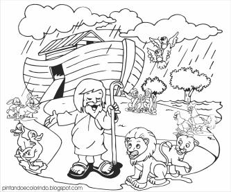 desenhos de noé para colorir
