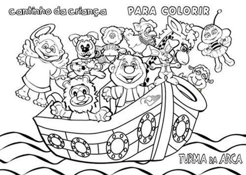 Desenhos De Noe Para Colorir E Aprender Mais Da Biblia Bela Feliz