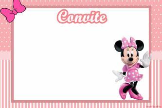 dicas de convites de aniversário da minnie rosa