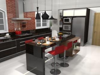 cozinhas planejadas com ilha central