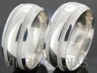 lindas alianças de compromisso de prata