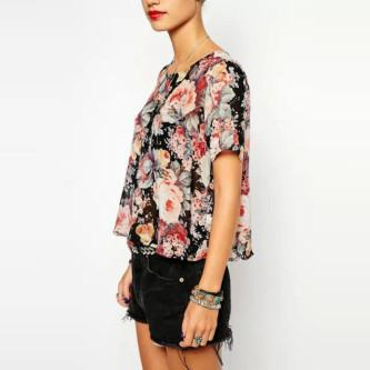 lindas camisas florais primavera verão