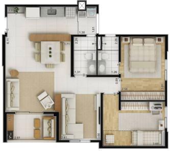 melhores plantas de casas 70m2 com 3 quartos gratis