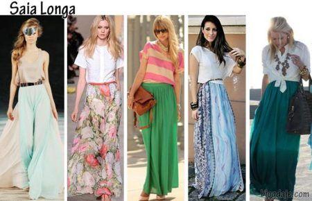 modelos de saias longas primavera verão