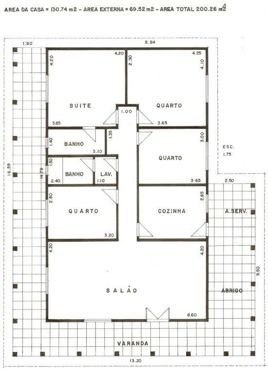 Planta de casas com 3 quartos gr tis conhe a as sugest es Plantas de residencias