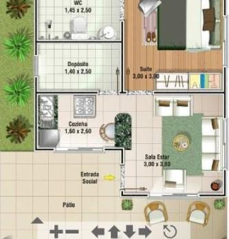 plantas de casas 70m2 com 3 quartos gratis