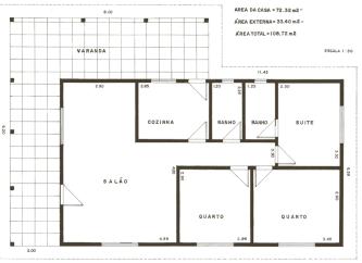 plantas de casas 80m2 com 2 quartos e 1 suite para imprimir