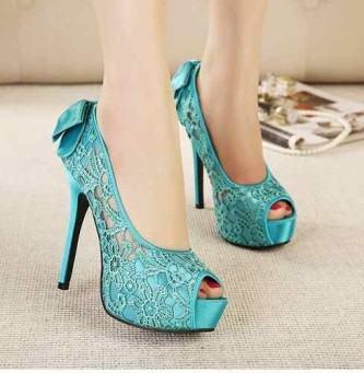 sapatos de festa de renda