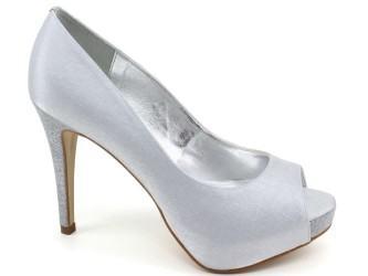 sapatos de festa prata