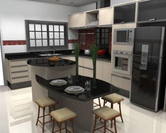 tipos de cozinhas planejadas com ilha central