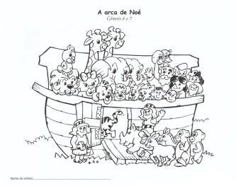 tipos de desenhos de noé para colorir
