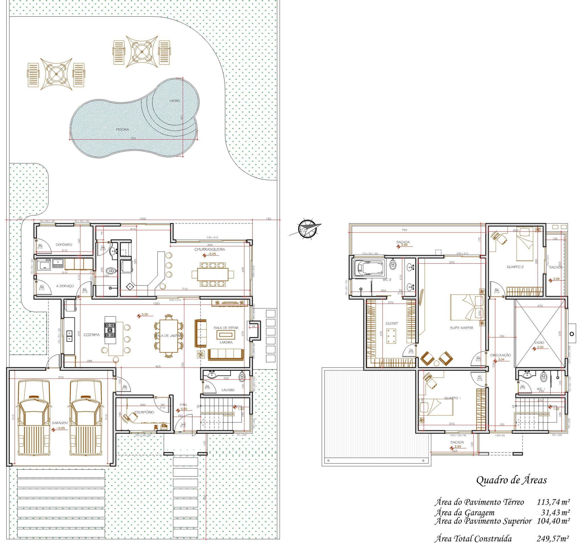 Planta de casas com 3 quartos gr tis conhe a as sugest es for Plantas de casas tipo 3