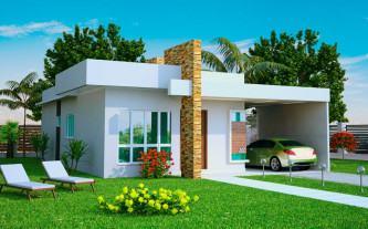 tipos de plantas de casas 80m2 com 2 quartos e 1 suite fachadas
