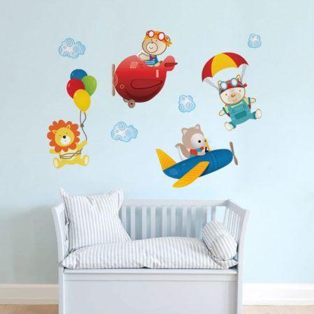 adesivo de parede quarto infantil bichinhos