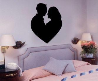 adesivos de parede para quarto de casal coração
