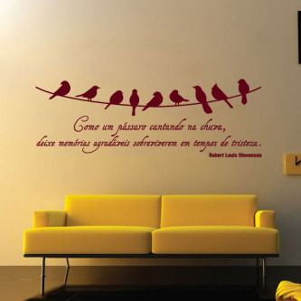 adesivos de parede para quarto de casal frases